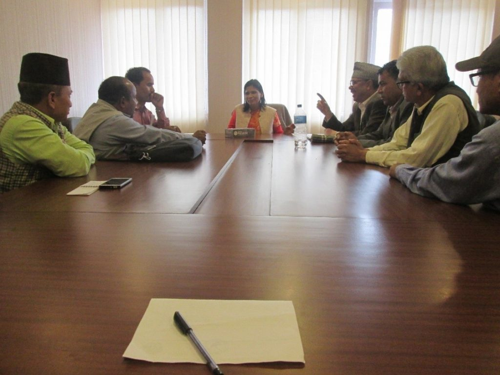 Freed Haliya Leaders meeting with Hon. Minister for Land Management, Cooperative and Poverty Alleviation